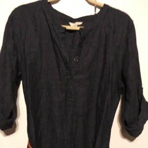 Garnet Hill belted denim dress